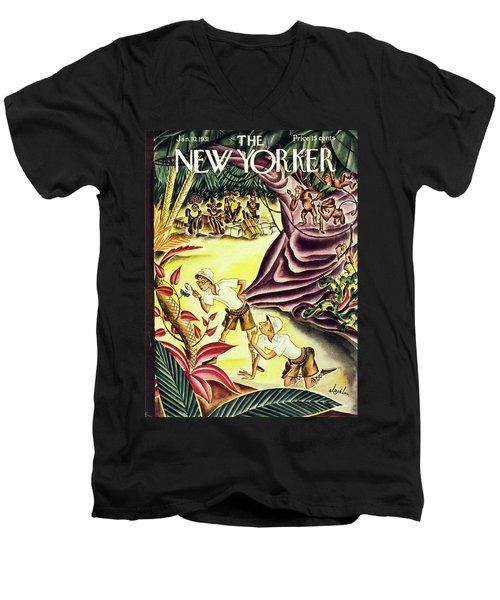 New Yorker January 10 1931 Men's V-Neck T-Shirt
