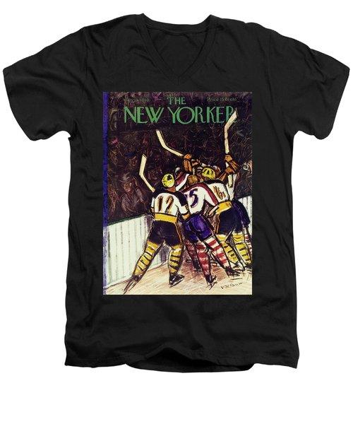 New Yorker January 13 1940 Men's V-Neck T-Shirt