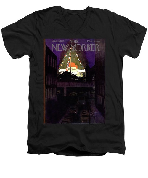 New Yorker June 28th, 1952 Men's V-Neck T-Shirt