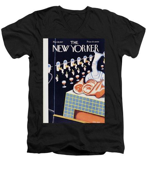 New Yorker March 26 1927 Men's V-Neck T-Shirt
