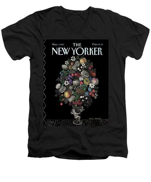 New Yorker May 1st, 1989 Men's V-Neck T-Shirt