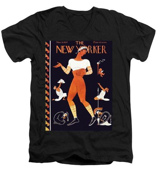 New Yorker November 13 1937 Men's V-Neck T-Shirt