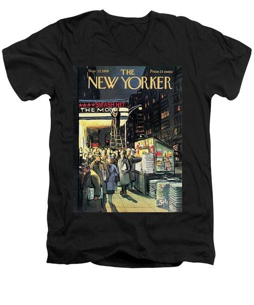 New Yorker November 22nd, 1958 Men's V-Neck T-Shirt