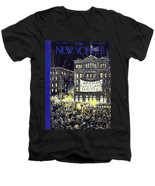 New Yorker October 31 1936 Men's V-Neck T-Shirt