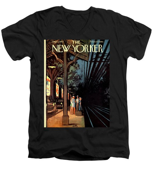 New Yorker September 1st, 1962 Men's V-Neck T-Shirt