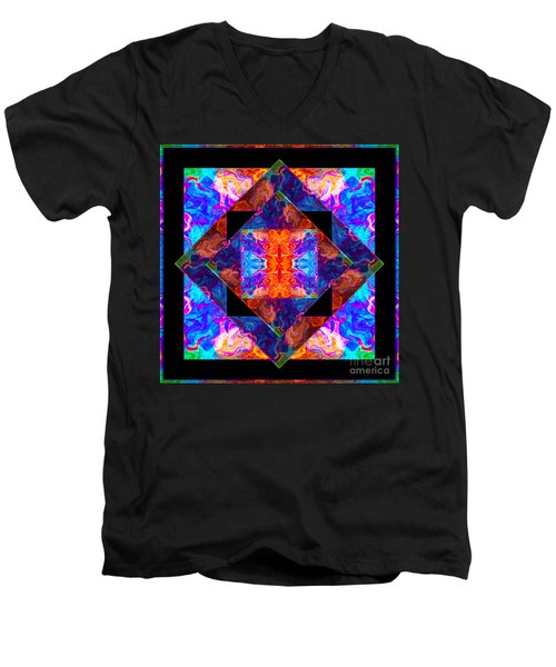 Newly Formed Bliss Mandala Artwork Men's V-Neck T-Shirt