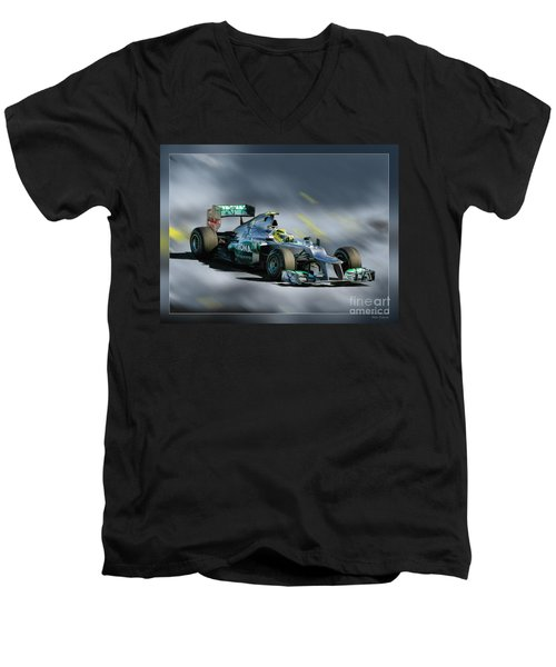 Nico Rosberg Mercedes Benz Men's V-Neck T-Shirt