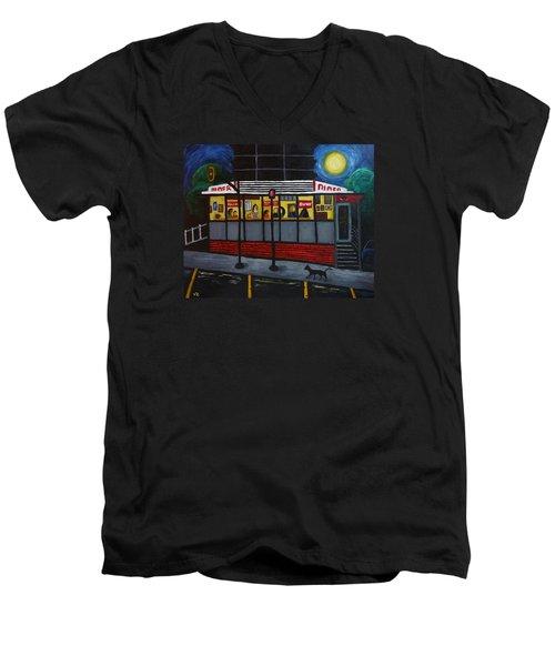 Night At An Arlington Diner Men's V-Neck T-Shirt