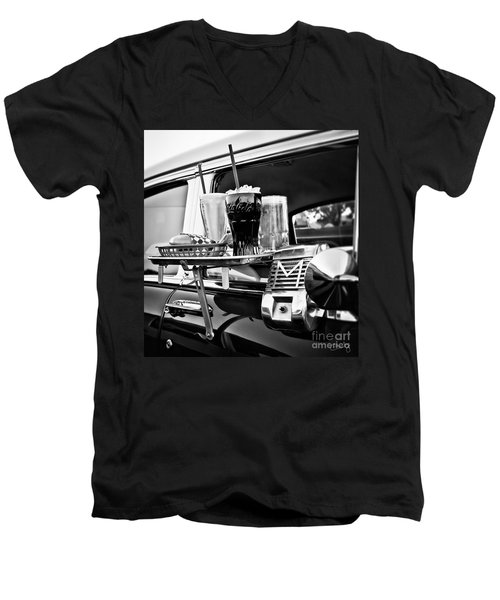 Night At The Drive-in Movies Men's V-Neck T-Shirt