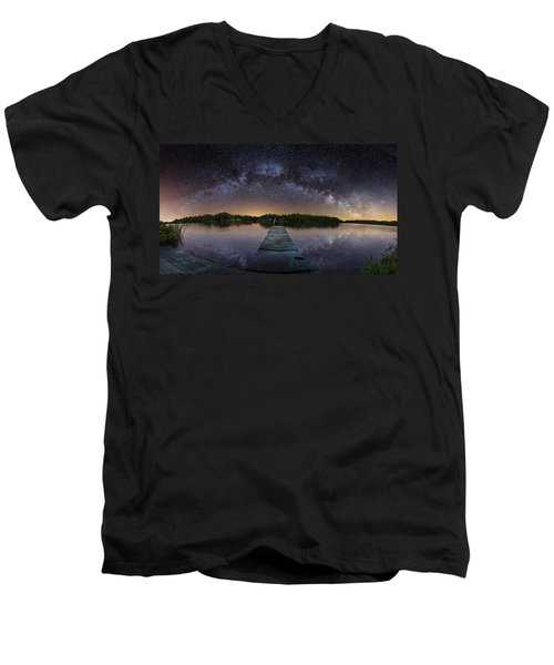 Night At The Lake  Men's V-Neck T-Shirt