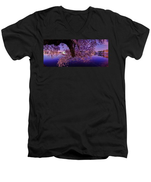 Night Blossoms Men's V-Neck T-Shirt