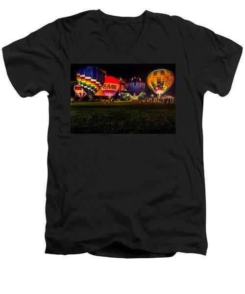 Night Glow Men's V-Neck T-Shirt