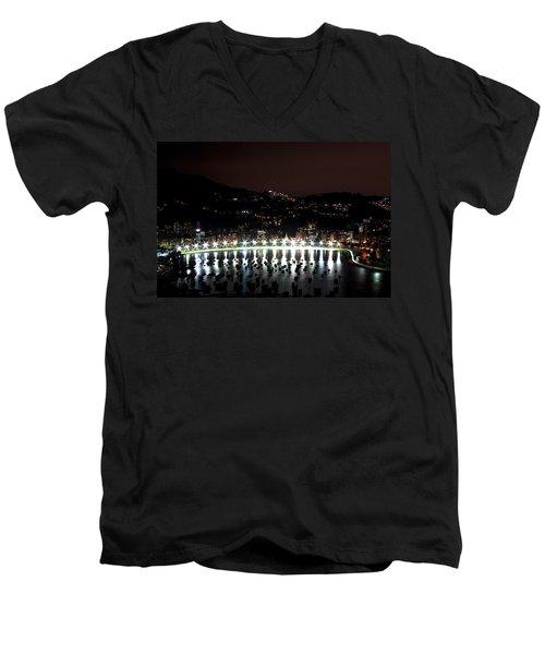 Night In Rio De Janeiro Men's V-Neck T-Shirt by Daniel Precht
