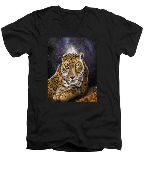 Fourth Of The Big Cat Series - Leopard Men's V-Neck T-Shirt