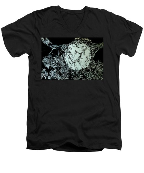 Nightingale Song. Part Three Men's V-Neck T-Shirt by Anna  Duyunova