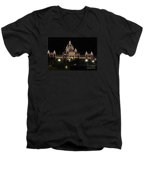 Nightly Parliament Buildings Men's V-Neck T-Shirt