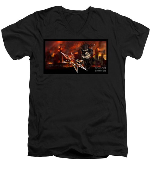Ninja Men's V-Neck T-Shirt