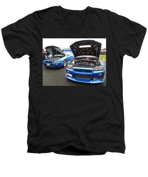 Nissan Skylines Men's V-Neck T-Shirt
