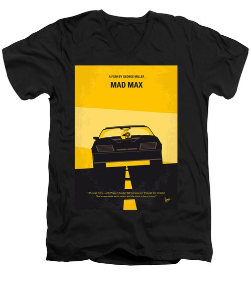 No051 My Mad Max Minimal Movie Poster Men's V-Neck T-Shirt