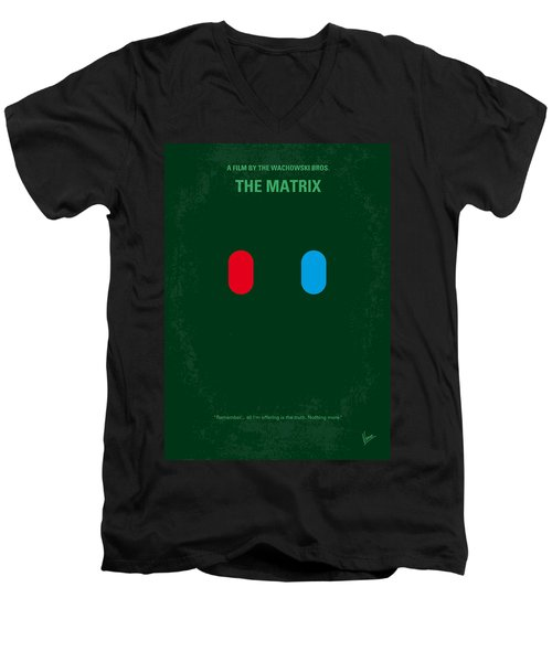 No117 My Matrix Minimal Movie Poster Men's V-Neck T-Shirt