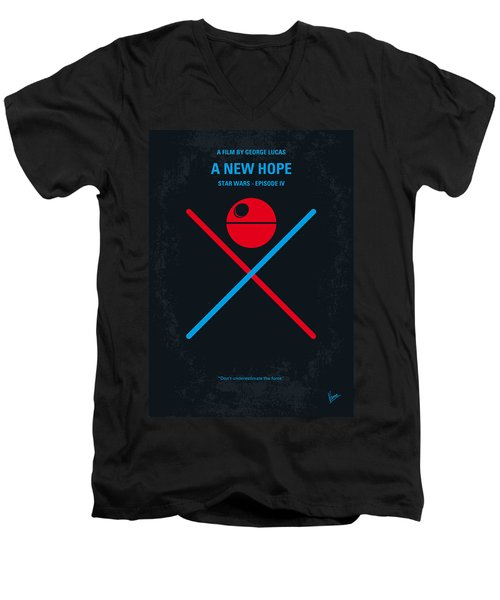 No154 My Star Wars Episode Iv A New Hope Minimal Movie Poster Men's V-Neck T-Shirt