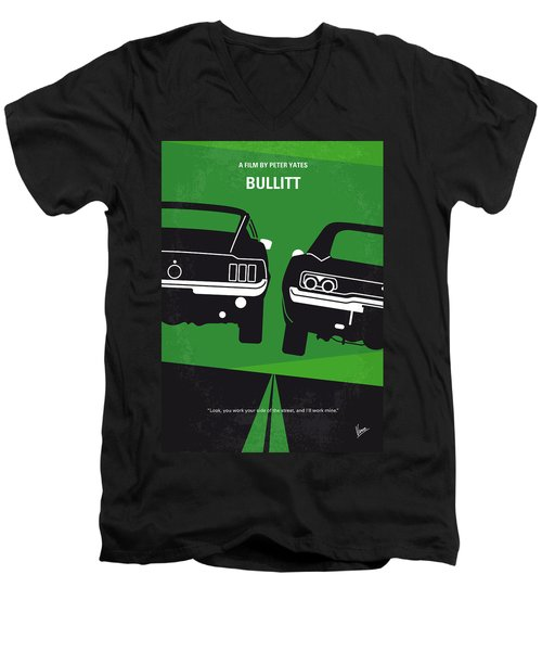 No214 My Bullitt Minimal Movie Poster Men's V-Neck T-Shirt by Chungkong Art