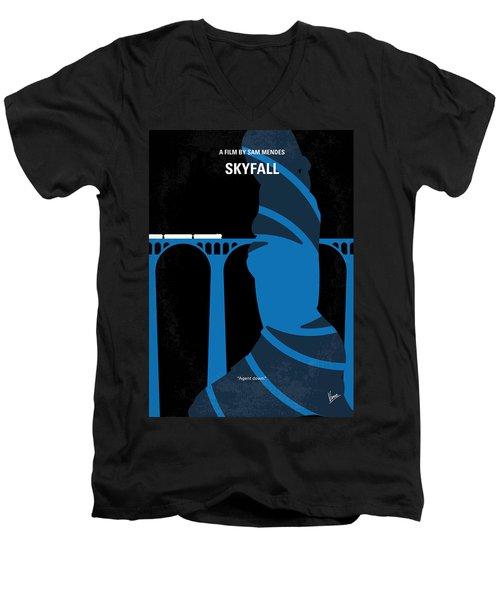 No277-007-2 My Skyfall Minimal Movie Poster Men's V-Neck T-Shirt