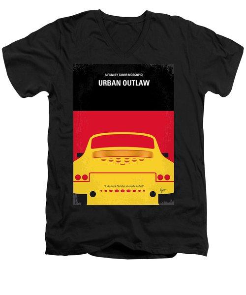 No316 My Urban Outlaw Minimal Movie Poster Men's V-Neck T-Shirt
