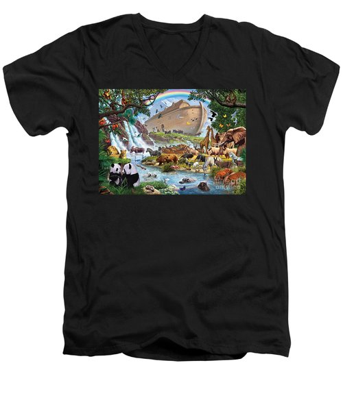 Noahs Ark - The Homecoming Men's V-Neck T-Shirt by Steve Crisp