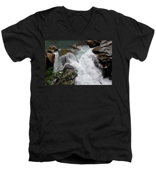 Nooksack Falls Men's V-Neck T-Shirt