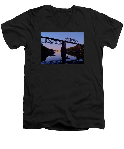 Norfolk-southern Crossing-1 Men's V-Neck T-Shirt by Charles Hite