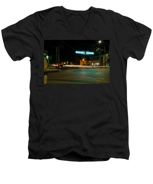 Normal Heights Neon Men's V-Neck T-Shirt