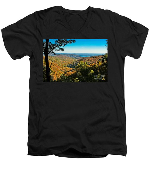 North Carolina Fall Foliage Men's V-Neck T-Shirt
