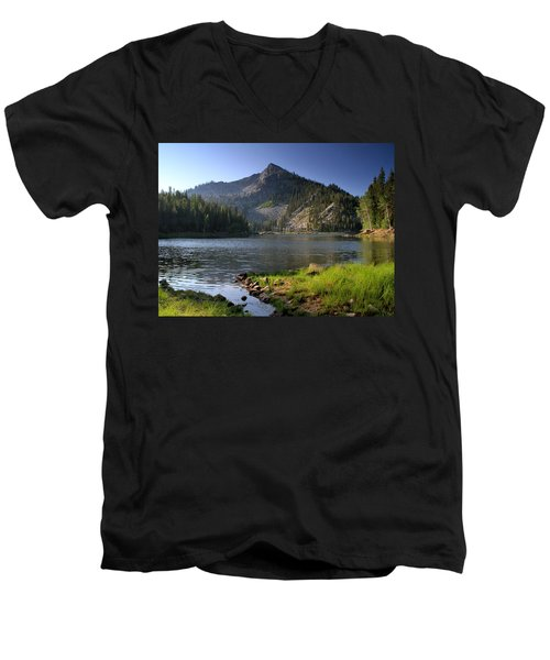 North Face Of Jughandle Mountain Men's V-Neck T-Shirt
