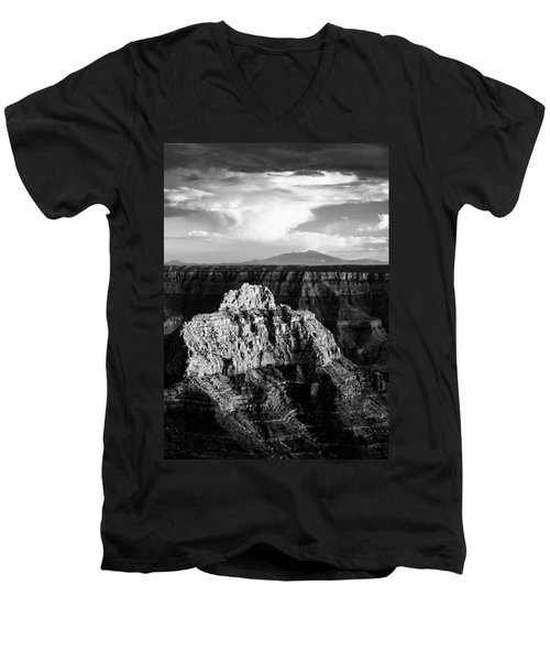North Rim Men's V-Neck T-Shirt by Dave Bowman