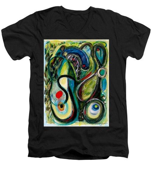 Northern Lights 2 Men's V-Neck T-Shirt