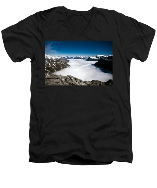 Norway In The Clouds Men's V-Neck T-Shirt