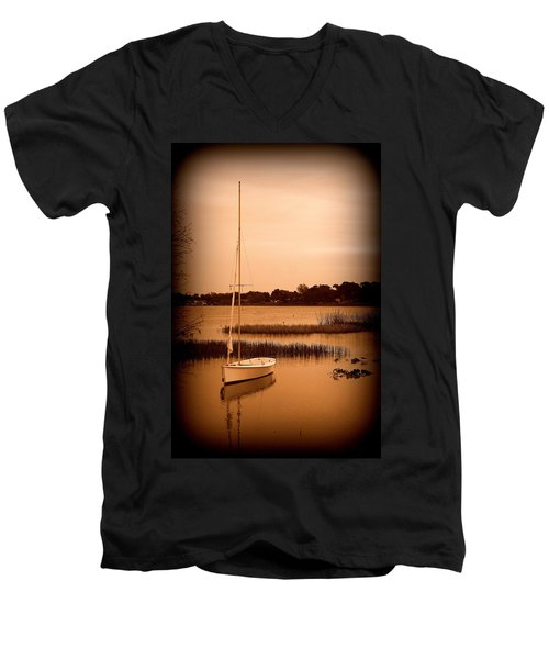 Men's V-Neck T-Shirt featuring the photograph Nostalgic Summer by Laurie Perry