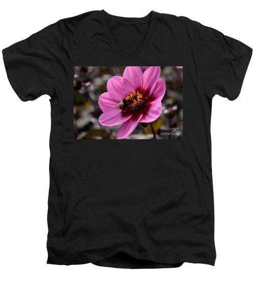 Nosy Bumble Bee Men's V-Neck T-Shirt