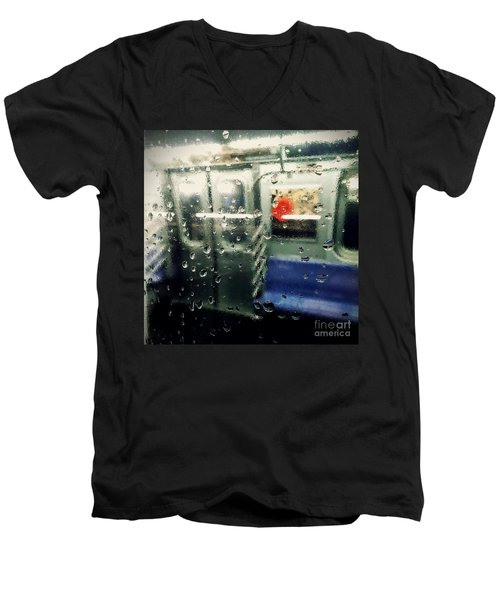 Men's V-Neck T-Shirt featuring the photograph Not In Service by James Aiken