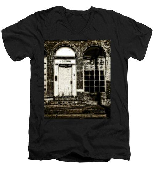 Number 104 Men's V-Neck T-Shirt by Mark Alder