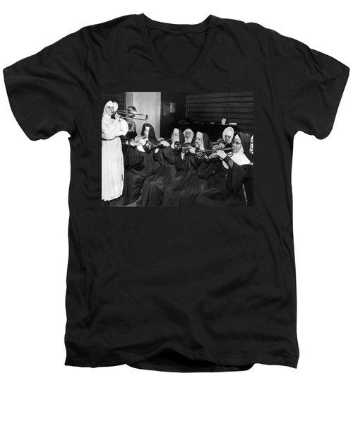 Nuns Rehearse For Concert Men's V-Neck T-Shirt