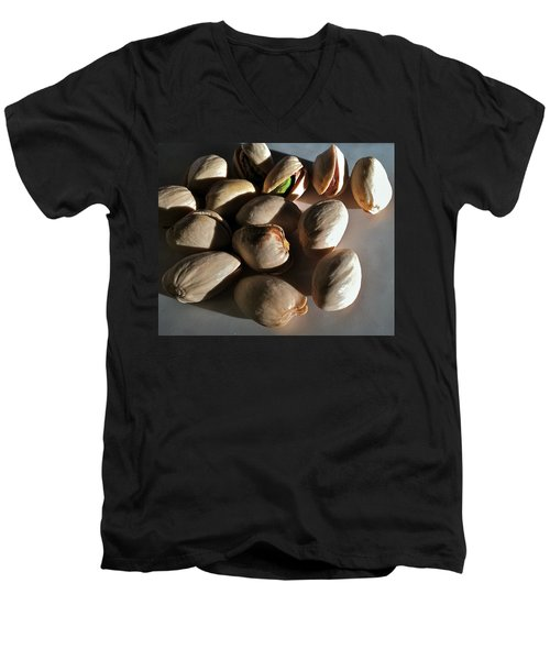 Men's V-Neck T-Shirt featuring the photograph Nuts by Bill Owen