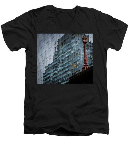 Ny Reflections With Lamp Men's V-Neck T-Shirt