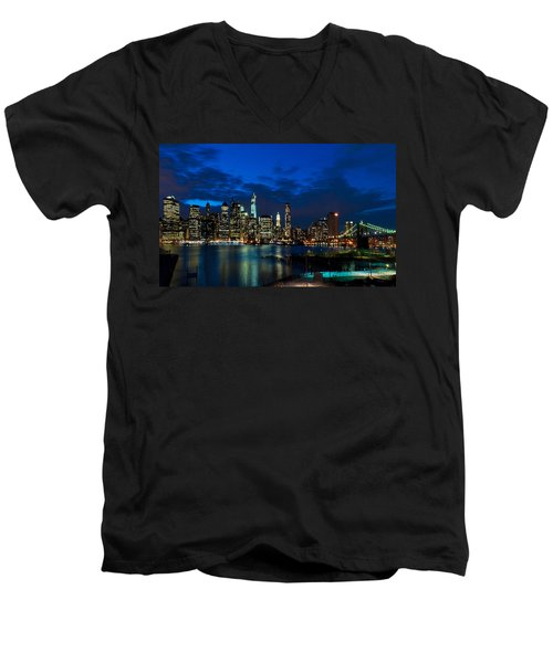 Ny Skyline From Brooklyn Heights Promenade Men's V-Neck T-Shirt