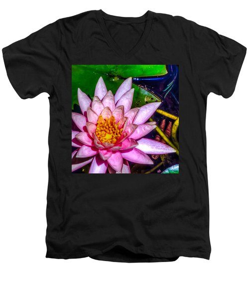 Men's V-Neck T-Shirt featuring the photograph Nymphaeaceae by Rob Sellers