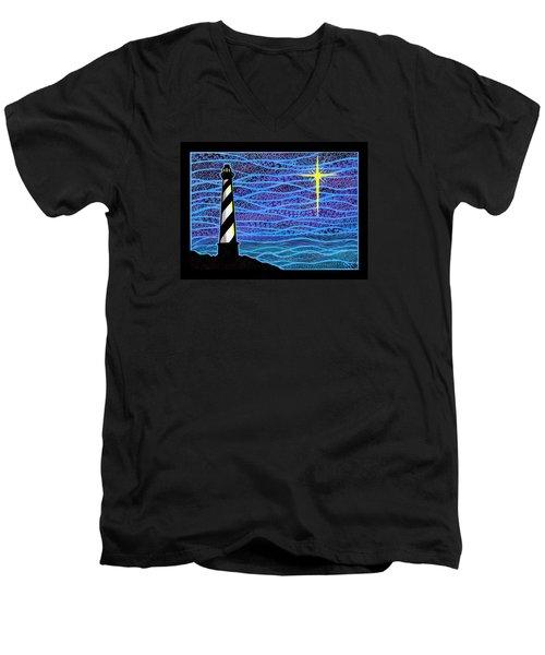 O Holy Night Hatteras Men's V-Neck T-Shirt