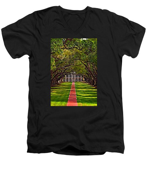 Oak Alley II Men's V-Neck T-Shirt by Steve Harrington