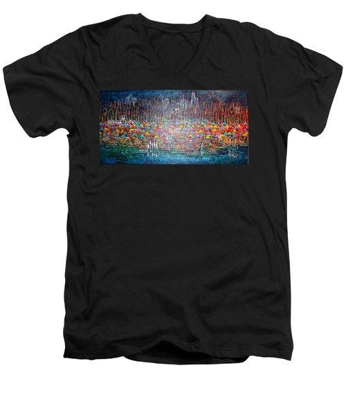 Oak Street Beach Chicago II -sold Men's V-Neck T-Shirt
