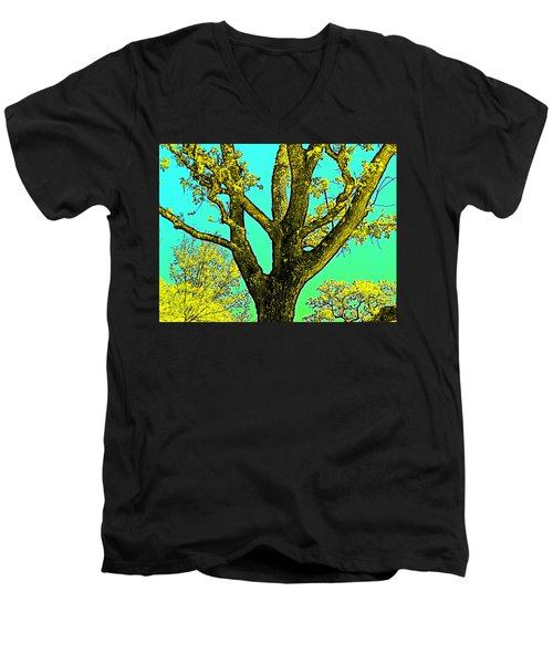 Men's V-Neck T-Shirt featuring the photograph Oaks 3 by Pamela Cooper